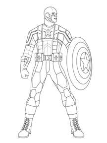 captain america coloring pages free printable captain america coloring pages for