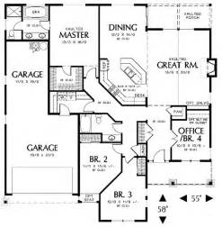 floor plans 2000 sq ft 2000 square feet 3 bedrooms 2 batrooms 2 parking space on 1 levels house plan 5023 all