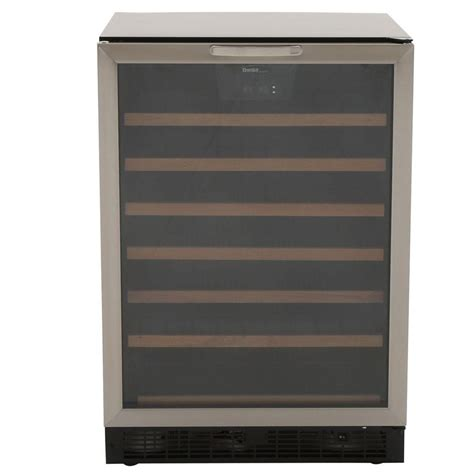 built in wine cooler cabinet danby 50 bottle built in wine cooler dwc508bls the home