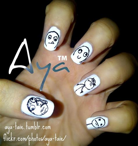 Nail Art Meme - meme nail art by ayooshie on deviantart