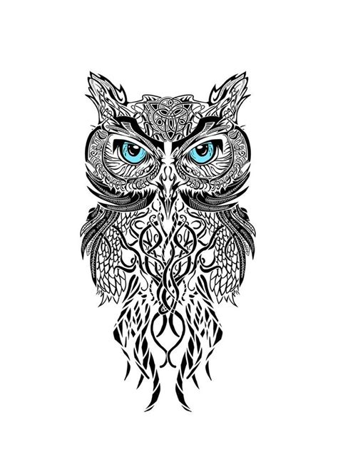 tribal owl tattoos designs 40 black and white designs
