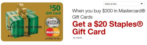300 Mastercard Gift Card - easy win with 5x staples 20 rebate on 300 mastercard gift card frequent miler