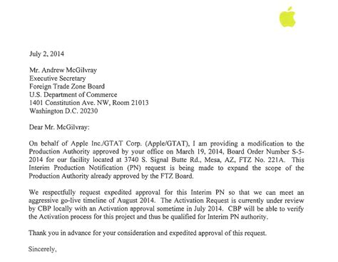 Business Letter To Apple Company apple files to kick expanded potentially jewelry