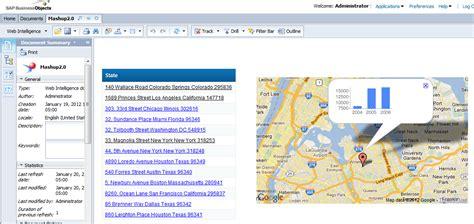 sap bo webi sle reports maps in webi 4 0 mashup bi happy