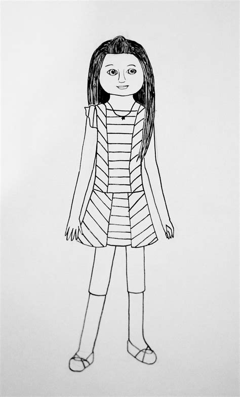american girl isabelle doll coloring page free printable girl doll coloring pages az coloring pages