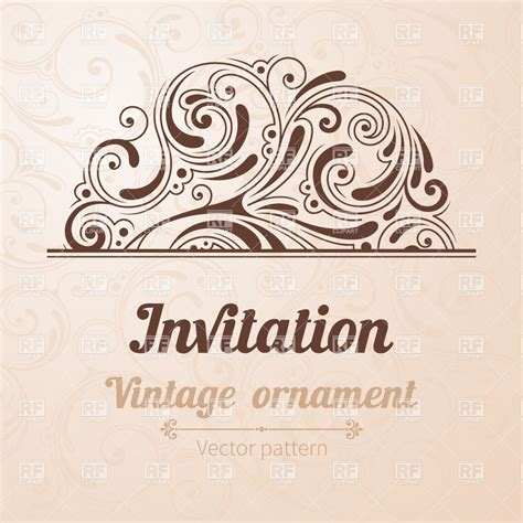 vintage invitation template royalty free vector clip art