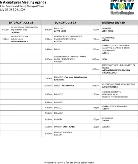 download sales meeting agenda template for free formtemplate