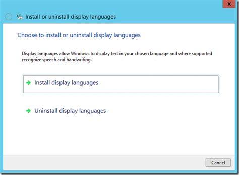 change w windows server 2012 change display language www