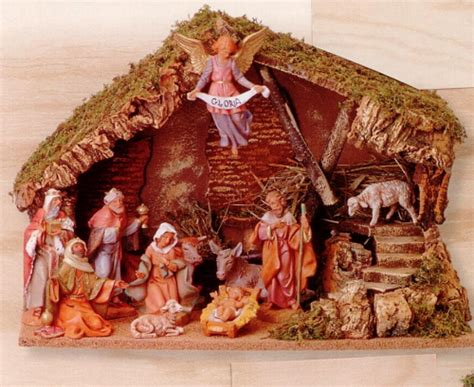 fontanini 5 inch 11 piece nativity set with italian stable