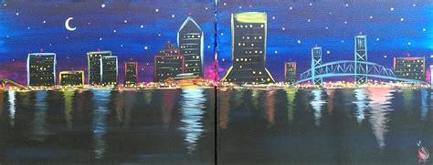 paint nite jacksonville date jacksonville skyline set saturday december