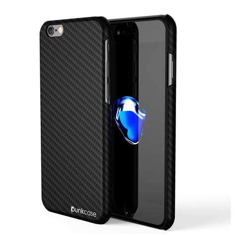 Tempered Glass Iphone 7 7s iphone 7 punkcase carbonshield jet black with 0 3mm