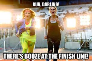 Ab Fab Meme - run darling there s booze at the finish line ab fab