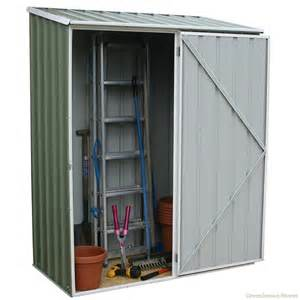 absco 5 x 3 spacesaver green metal shed greenhouse stores