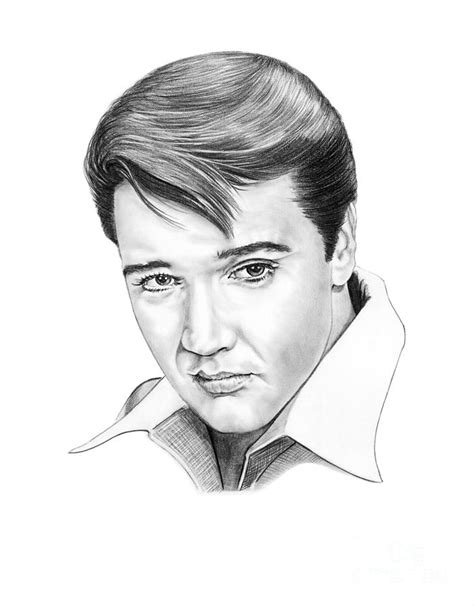 elvis presley drawing by murphy elliott