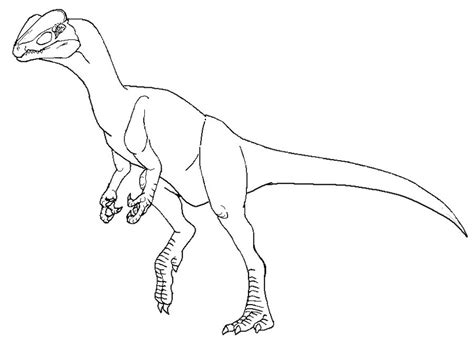 dilophosaurus coloring page coloring pages