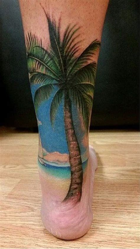 tattoo healing beach palm tree foot tattoos www imgkid com the image kid
