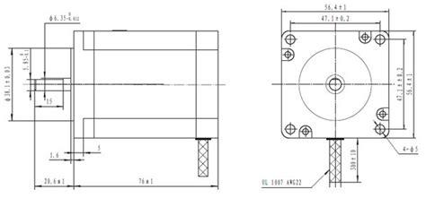 nema section 30 pololu stepper motor bipolar 200 steps rev 57 215 76mm 3