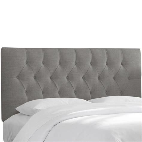 Skyline Furniture Tufted Panel Headboard In Gray 54xxlnngr
