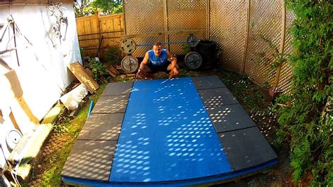 Backyard Outdoors by Backyard Olympic Weightlifting Platform Gopro