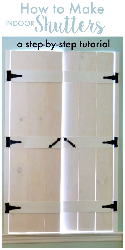 how to make interior shutters for windows how to make indoor shutters create and babble