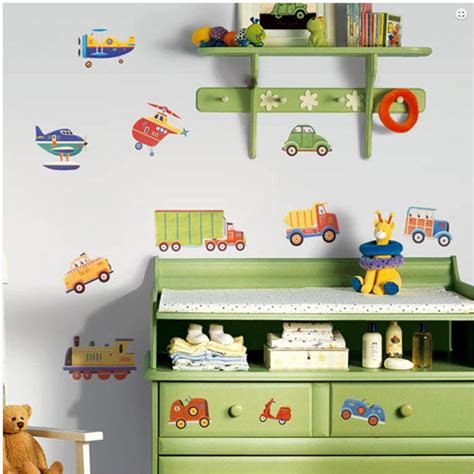 wall stickers boys room cars trucks planes wall decal transportation 26 stickers boys room decor ebay