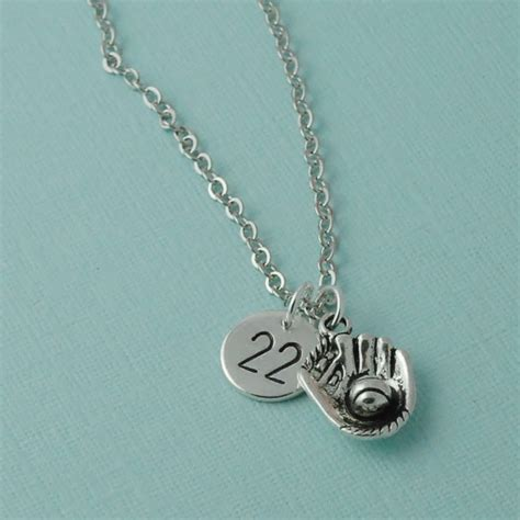 sports for jewelry baseball necklace number necklace sports jewelry