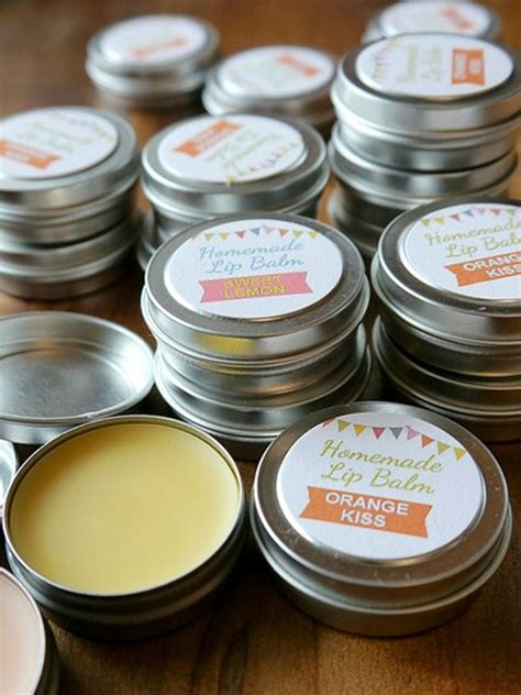 Handmade Lipbalm - lip balm recipe printable labels diy gift