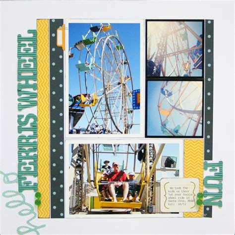 scrapbook layout ferris wheel 454 best travel vacation layouts images on pinterest