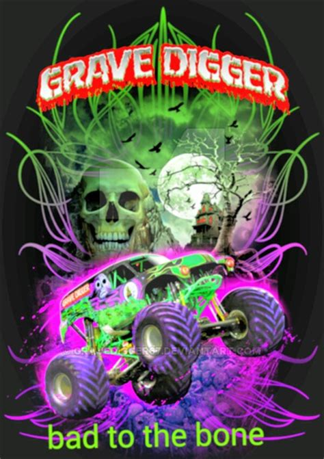 monster trucks grave digger bad to the bone grave digger bad to the bone by gravedigger67 on deviantart