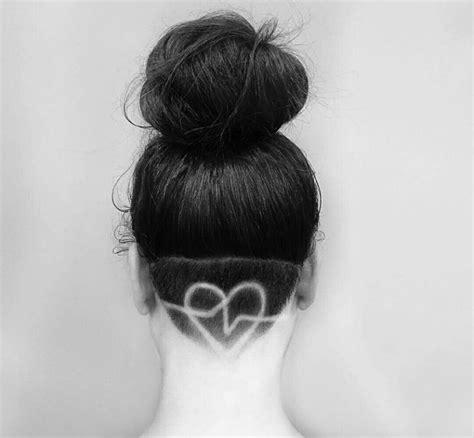 heartbeat hair tattoo 25 cool hair tattoo designs for ladies sheideas