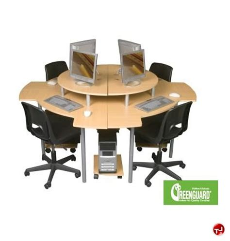 Circular Office Desk The Office Leader 4 Person Circular Cluster Curve Computer Desk Workstation