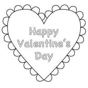 Heart happy valentine s day coloring page valentine s day