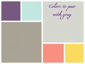 What Color Goes With Gray colors to pair with gray