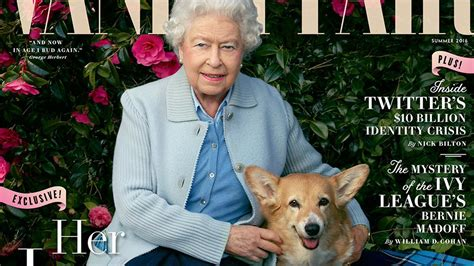 queen elizabeth dog queen elizabeth and her dogs grace new vanity fair cover