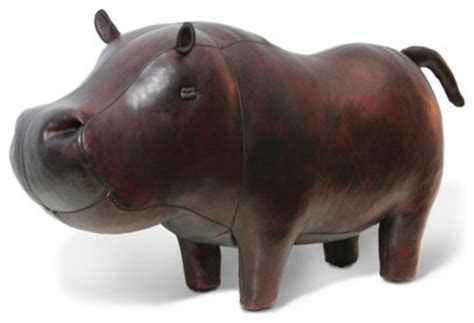 hippo ottoman jonathan adler hippo in leather animals eclectic