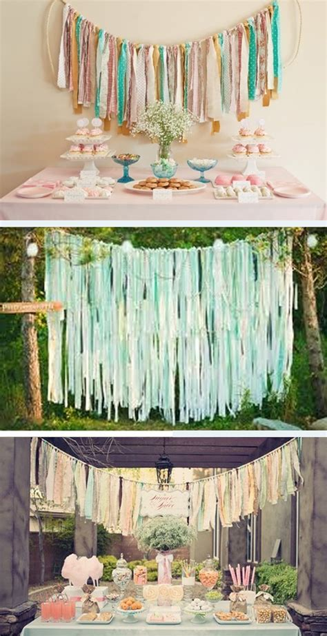 Material Decoration by Diy Wedding Fabric Strips Wedding Ideas Want That