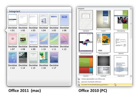 Design Vorlagen Word 2010 unterschied office 2010 pc und office 2011 mac df edv