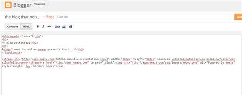 blogger embed code embed a presentation on emaze