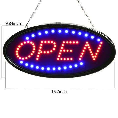 Led Bright agptek 174 bright led open business sign neon light animated motion on switch ebay