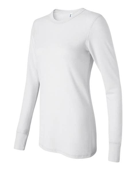 long sleeve thermal shirts for women bella ladies long sleeve thermal shirt