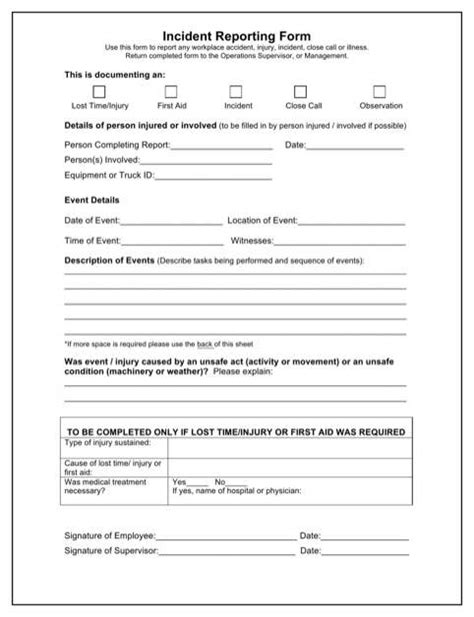 Security Daily Activity Report Template Free Sle Incident Report For Security Officer Tm Sheet