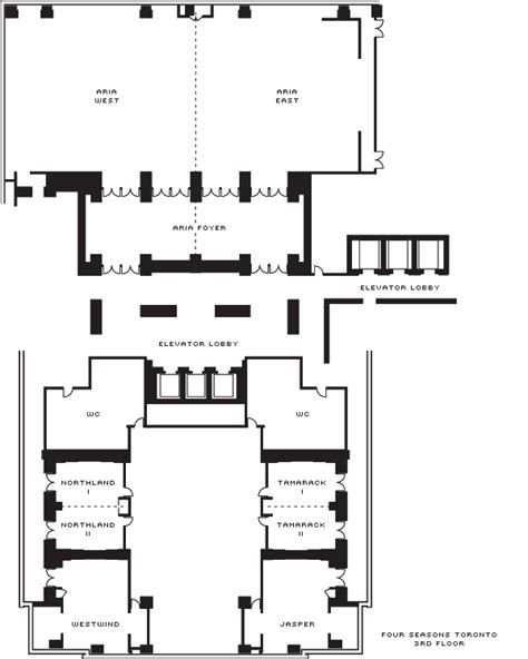 800 Sq Ft In M2 toronto event venues amp meeting space four seasons hotel