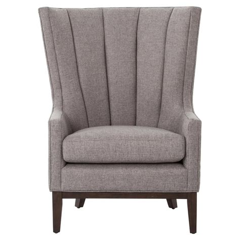 grey fabric armchair vida modern classic pewter grey fabric wing armchair