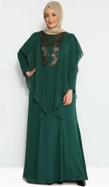 Gamis Pesta Untuk Orang Gemuk fashion tren model baju gamis pesta untuk orang gemuk