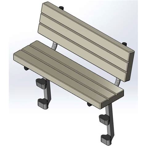 pe benches ez dock poly aluminum bench kit fwm docks ez dock