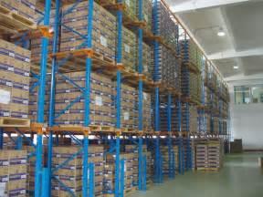 high space saving heavy duty pallet rack blue orange