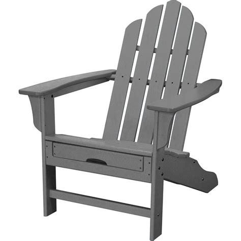 grey chair with ottoman all weather contoured adirondack chair with hideaway