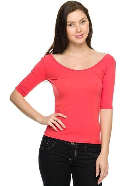 casual  sleeve scoop neck   sexy solid plain