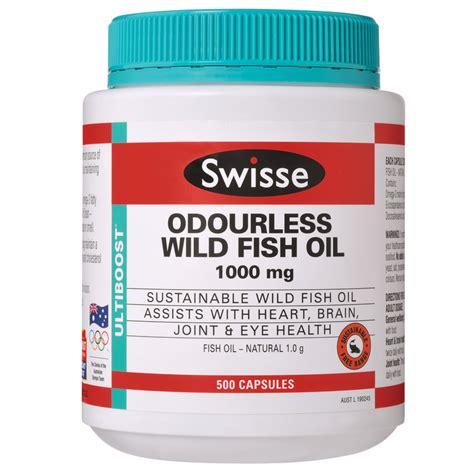 Swisse Ultiboost Odourless Fish 1000mg 500 Capsules Swisse Ultiboost Odourless Fish 1000mg 500