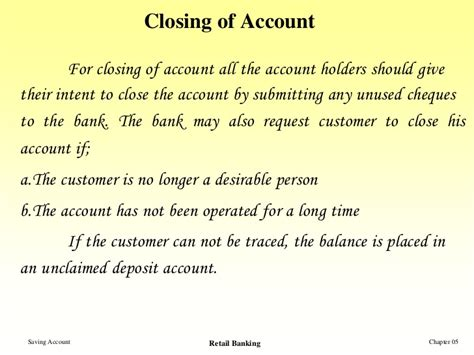 Closing Bank Locker Letter Saving Account